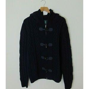 Kent & Curwen L Full Zip Toggle Sweater Jacket